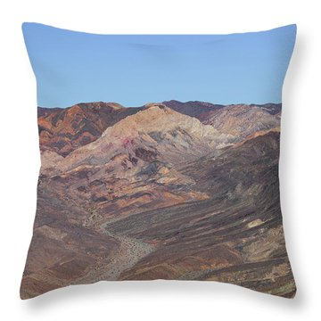 Throw Pillow featuring the photograph Avawatz Mountain by Jim Thompson