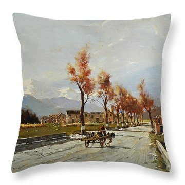 Avellino's Landscape  Throw Pillow