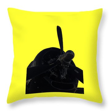 Avenger Throw Pillow by Julio Lopez