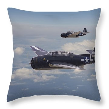Avenger Strike Throw Pillow by Pat Speirs