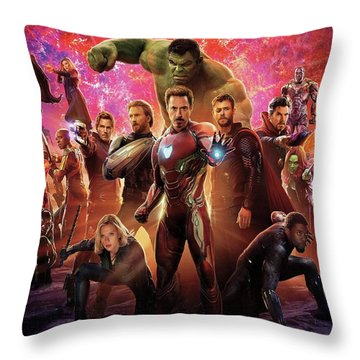 Avengers Infinity War Throw Pillow