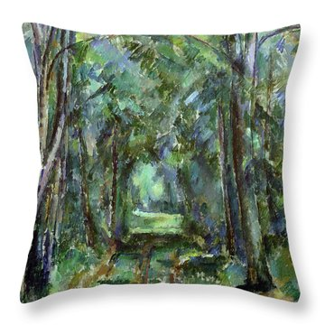Avenue At Chantilly Throw Pillow by Paul Cezanne