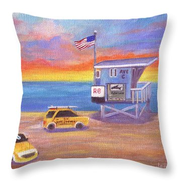 Throw Pillow featuring the painting Avenue C by Jamie Frier