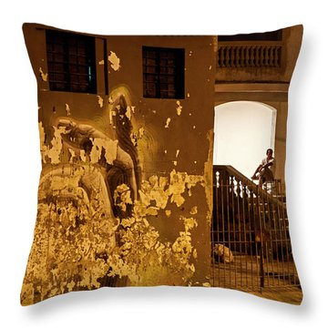Throw Pillow featuring the photograph Avenue De Los Presidentes Havana Cuba by Charles Harden