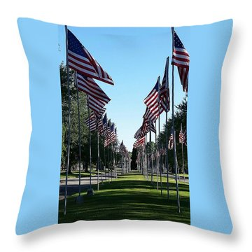 Avenue Of Flags Throw Pillow