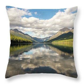 Avenue To The Mountains Throw Pillow