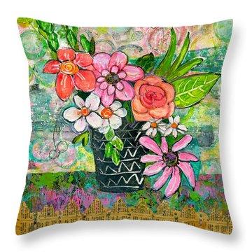 Avery Daisy Flower Throw Pillow