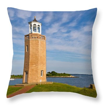 Avery Point Lighthouse Throw Pillow