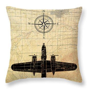 Aviator Throw Pillow by Greg Sharpe