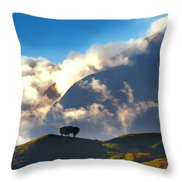 Avila From The East Throw Pillow