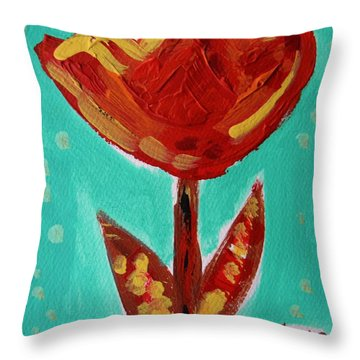 Avis-flowers From The Flower Patch Throw Pillow by Mary Carol Williams
