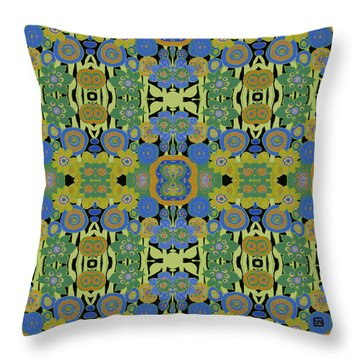 Avocado Blue Pattern Throw Pillow