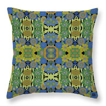 Avocado Blue Pattern Throw Pillow