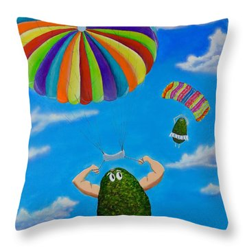Avocado's From Heaven Throw Pillow