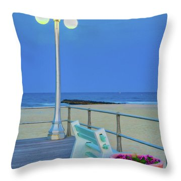 Avon Boardwalk At Twilight Throw Pillow