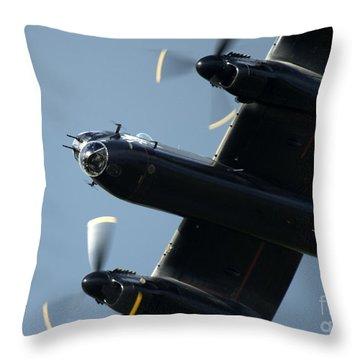Avro Lancaster Throw Pillow by Angel  Tarantella