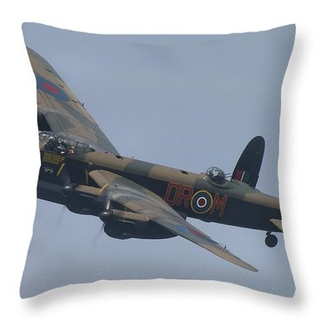 Throw Pillow featuring the photograph Avro Lancaster B1 Pa474  by Tim Beach