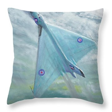Avro Vulcan B1 Night Flight Throw Pillow by Vincent Alexander Booth