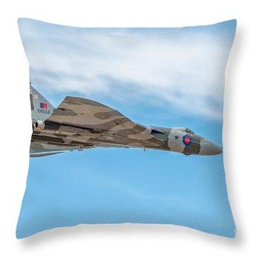 Vulcan Xh558 Throw Pillows