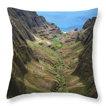 Awaawapuhi Valley Throw Pillow