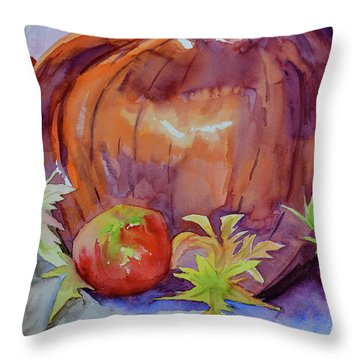 Throw Pillow featuring the painting Awaiting by Beverley Harper Tinsley