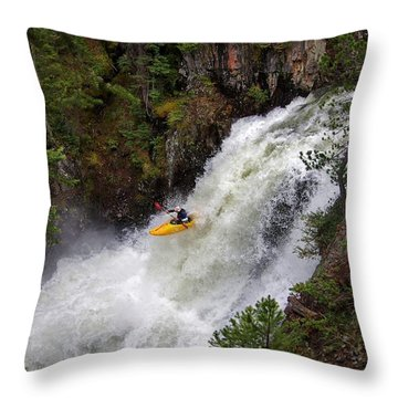 Awaiting Impact Throw Pillow by Matt Helm