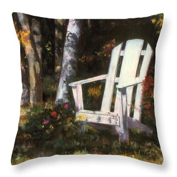 Awaiting Throw Pillow by Julie Maas