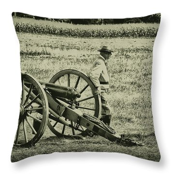Awaiting Orders Throw Pillow by Bill Cannon
