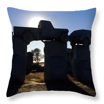 Awaiting The Aliens Throw Pillow by Jerry McElroy