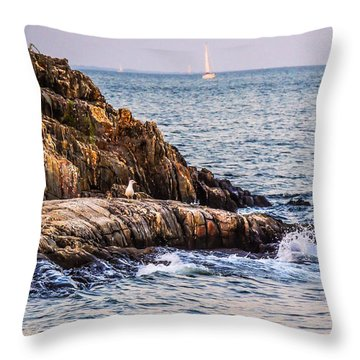 Awaiting The Call Throw Pillow by Glenn Feron