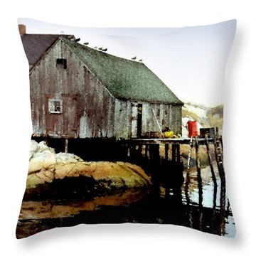 Awaiting The Catch Throw Pillow