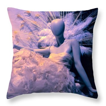 Awaiting The Next Party Throw Pillow
