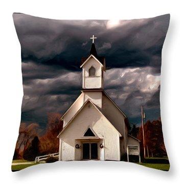 Awaiting The Storm Throw Pillow