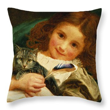 Awake Throw Pillow by Sophie Anderson
