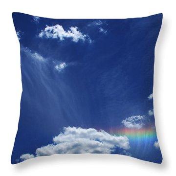 Awaken Throw Pillow by Linda Sannuti