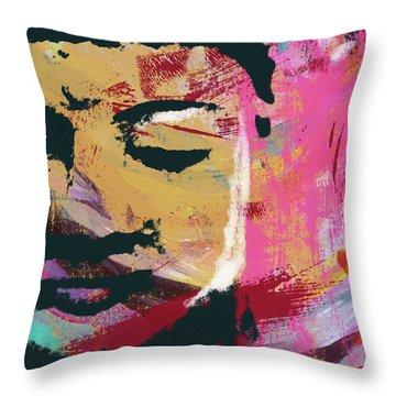 Awakened Buddha 3- Art By Linda Woods Throw Pillow