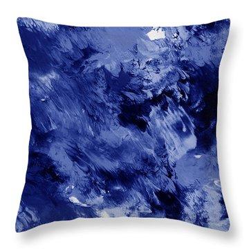 Awakened Sky- Abstract Art By Linda Woods Throw Pillow