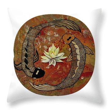 Throw Pillow featuring the painting Awakening by Darice Machel McGuire