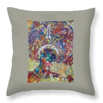 Awakening Goddess Throw Pillow