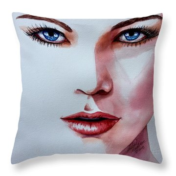 Throw Pillow featuring the painting Awakening by Michal Madison