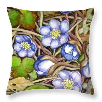 Awakening Of The Wild Anemone  Throw Pillow
