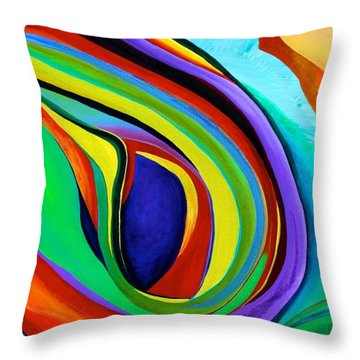 Throw Pillow featuring the painting Awakening by Polly Castor