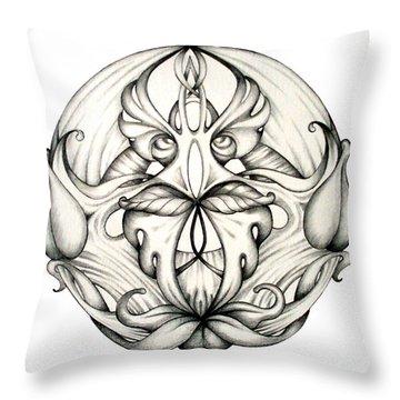 Mandala Drawings Throw Pillows