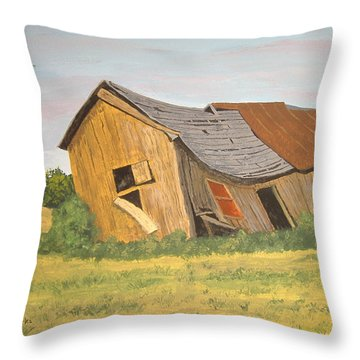 Throw Pillow featuring the painting Award-winning Original Acrylic Painting - Now I Lay Me Down To Sleep by Norm Starks