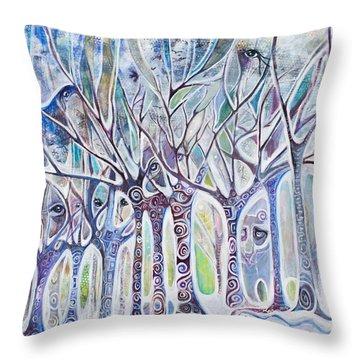 Awareness Throw Pillow by Leela Payne