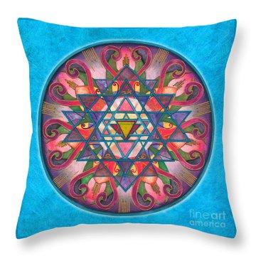Awareness Mandala Throw Pillow