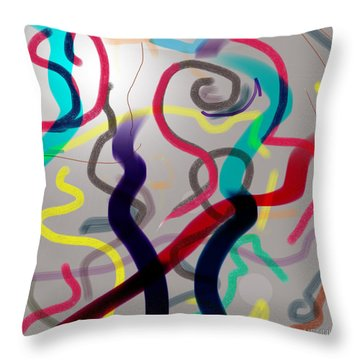 Awareness Throw Pillow by Robert Henne