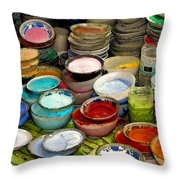 Awash In Color Throw Pillow
