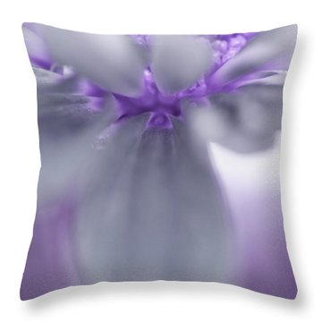Awashed In Lavender Throw Pillow