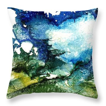 Throw Pillow featuring the painting Away by Anne Duke